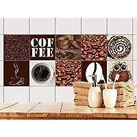 Fliesenaufkleber - Fliesensticker kaffee ...