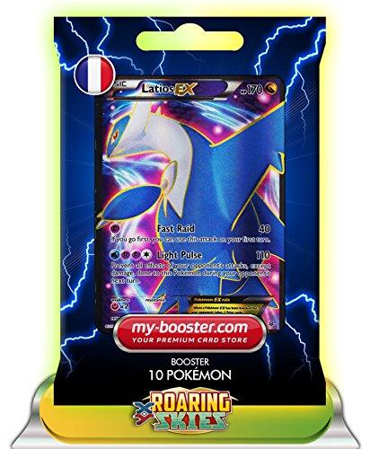 LATIOS EX Full Art 101/108 170HP XY06 ROARING SKIES - Booster verbessert Thunderbolt mit 10 Englische Karten Pokemon