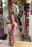Federhaube Truthahn Indianer Kopfschmuck coiffe indienne Turkey Real Feather war bonnet Headdress Chief War bonnet Real Feathers Little Big Horn