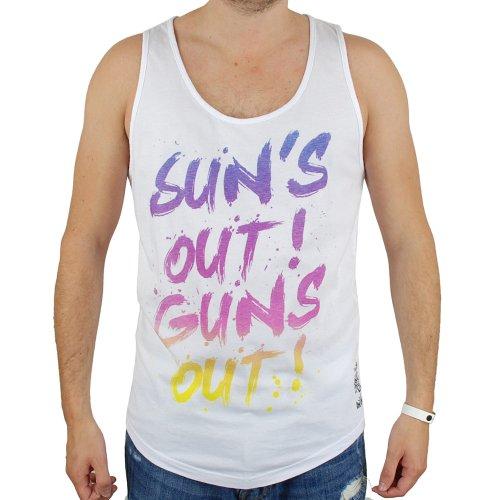 Neue Friend Or Faux-Mens Weiß Sunsout Designer Sommer Westen Weiß