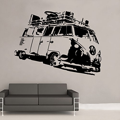 Split-Camper-VW-Volkswagen-Campervan-early-rat-Wall-Art-Sticker-SK02