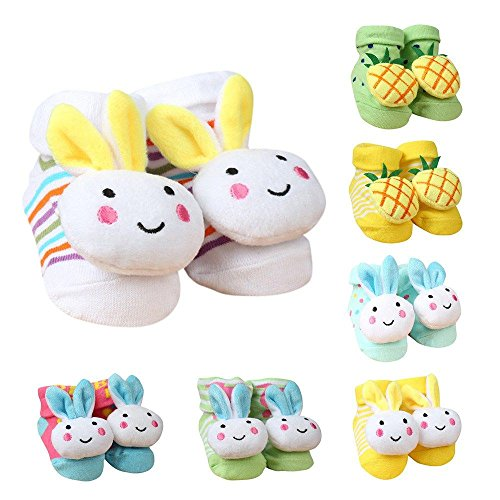 Unique Ideas Unisex Cartoon Soft Combo Of 2 Pairs Socks Cum Shoes (Color & Design May Vary_3 - 6 Months)