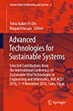 Advanced Technologies for Sustainable Systems: Selected Contributions from the International Conference on Sustainable Vital Technologies in Engineering ... (Lecture Notes in Networks and Systems)