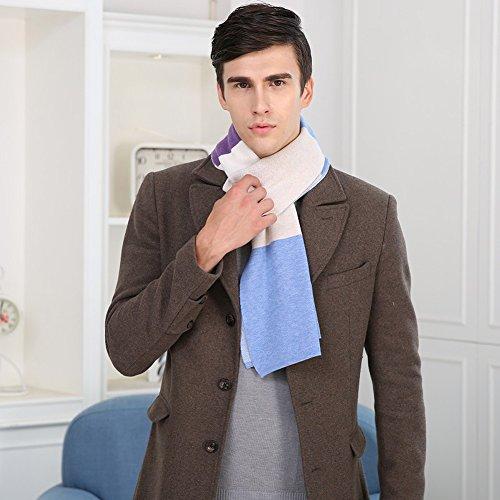 Insun - Echarpe - Homme Blue 6% wool