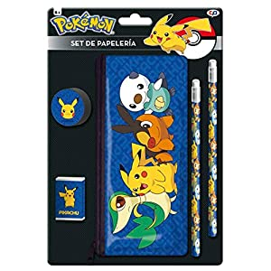 Pokemon GS-406-PK Set de Papelería con Portatodo