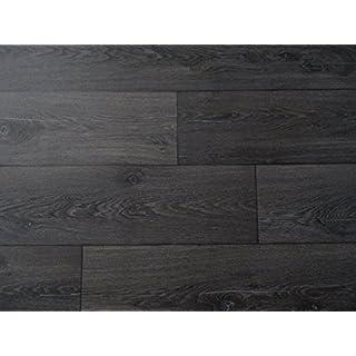 PVC in Holzdielen-Optik, schwarz - von Alpha-Tex 9.95€/m² (Länge: 150 cm, Breite: 400cm)