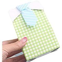 QHGstore 50pcs Papillon Candy Box Plaid Camicie Abiti Candy Box creativo decorazione di nozze verde