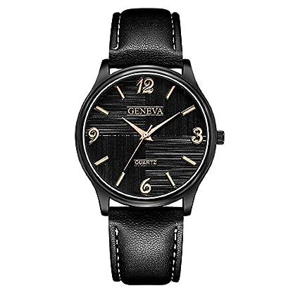 Lazzgirl-Luxus-Herren-Quarz-Armbanduhren-Lederarmband-Analog-Slim-Dial-CasualFarbeOne-Size