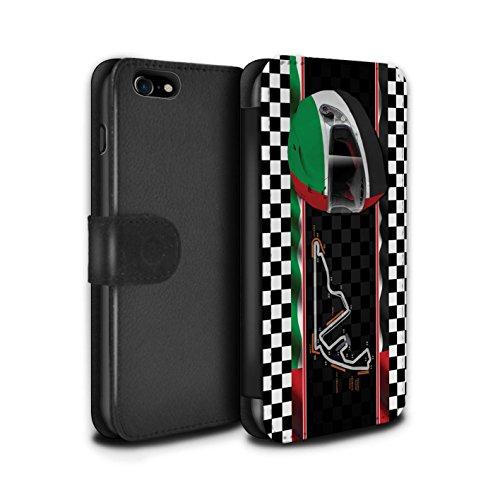 Stuff4 Coque/Etui/Housse Cuir PU Case/Cover pour Apple iPhone 8 / Bahreïn/Sakhir Design / F1 Piste Drapeau Collection AbuDhabi