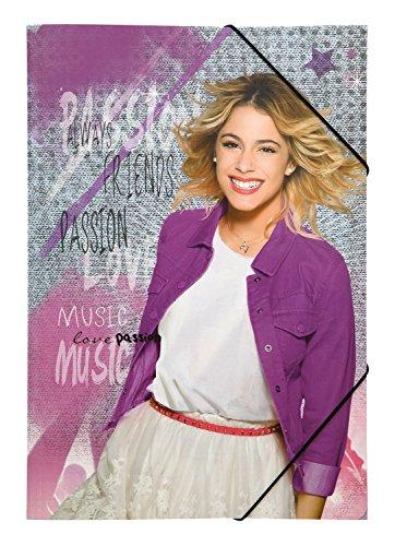 Undercover VIAE0290 - Gummizugmappe A3 Disney Violetta, pink