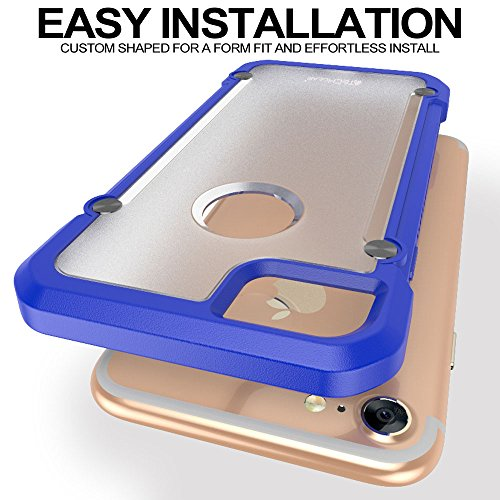 TECHGEAR® Apple iPhone 7Fall, Purple/Frost (FUSION ARMOUR), iPhone 7 Blue/Frost (FUSION ARMOUR)