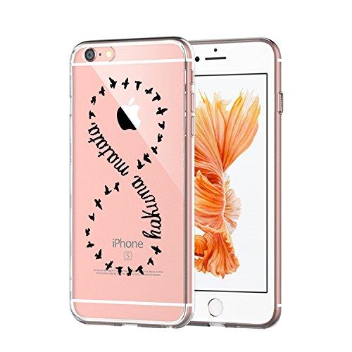 Coque iPhone 6 Plus/6S Plus,Vanki® Modèle simple Housse TPU Souple Etui de Protection Silicone Case Soft Gel Cover Anti Rayure Anti Choc pour Iphone 6 Plus/6S Plus 8 numérique