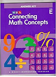 Connecting Math Concepts, Answer Key, Level E by Siegfried Engelmann (2003-12-23)