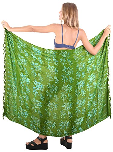 Bademode Wrap Badeanzug Pareo Badebekleidung Frauen Sarong Pool Abnutzung  Badeanzug Resort Rock coverup Abnutzung Dunkelgrün
