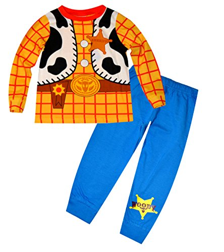 Disney Toy StoryBoys Woody Sheriff Kostüm Novelty Print Long Length Pyjama (Woody Kostüm 2 3 Jahre)