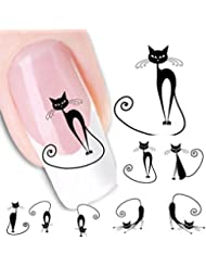 Internet XF1442 Transferts à l'eau Motif Chat Water decals Autocollants pour nail art Décor d'ongles