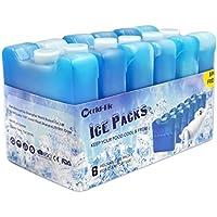 WORLD-BIO Paquete de 6 bloques de congelador ¨C Bloques refrigerantes mantiene su comida o bebidas frescas en d¨ªas calientes,100 g