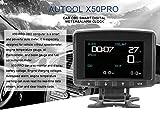 Autool X50 Pro Multifunktions-Auto-OBD Smart-Digital-Messgerät & Alarm-Fehlercode, Wassertemperaturanzeige, digitales Spannungsmessgerät, unterstützt 12 V OBDII Diesel-Fahrzeuge