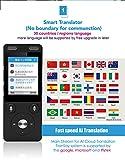 TranSay Traducteur vocal numérique AI Two Way Poche voix en langue étrangère Traducteurs au support chinois anglais France espagnol Corée japonais,...