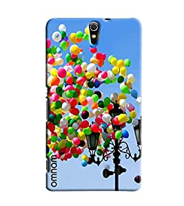 Omnam Colorful Ballons Flying Printed Designer Back Cover Case For Sony Xperia C5