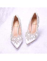 VIVIOO Tacón Alto Zapato De Boda Para La Novia Blanco Rojo Rosa Diamante Zapatos De Novia Zapatos De Novia De...