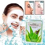 BAVIPHAT Koreanische Gesichtsmaske für Frauen - 10er Pack   Kraftvolle hydratisierende Inhaltsstoffe, Anti-Aging, Set enthält SNAIL extracts mehr