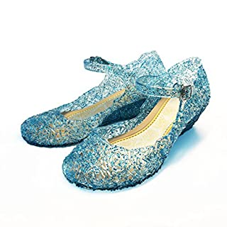 About Time Co Girls' Princess Jelly Low Cut Wedge Shoes (10 UK Child, size 31, Blue)