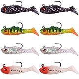 Trout Master Trout Softbait Lures - 8 Gummifische 4cm 2g für Forellen, Gummiköder zum Forellenangeln, Spinnköder zum Spinnfischen, Farbe:Sortiment A