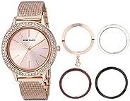 Anne Klein Women's Swarovski Crystal Accented Watch and Interchangeable Bezel