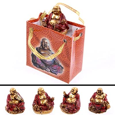 Red and Gold Chinese Buddha in a Bag