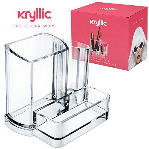 AcryliCase Klar Makeup-Organizer, ordnet Make-up Pinsel und Kosmetik, 3-Fach Lagerung Display Halter