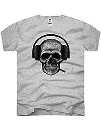 TEE-Shirt, Men T-Shirt Skull-Headset