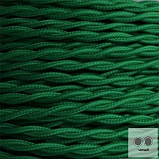 Textilkabel Stoffkabel grün , 2-adrig verseilt