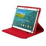 BRALEXX Universal Tablet PC Tasche passend für MEDION LIFETAB S10346 (MD 98992), 10 Zoll, Rot