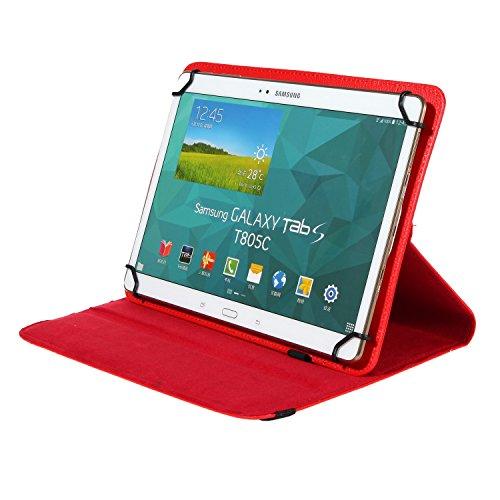 BRALEXX BRALEXX Universal Tablet PC Tasche passend für MEDION LIFETAB S10346 (MD 98992), 10 Zoll, Rot