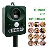 MASO Solar Power Ultrasonic Pest Control Animal Repeller Outdoor Home Guard Deterrent to