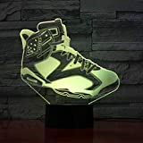 3D Led Shoes Modelling USB Desk Lamp Home Decor Living Room Lighting 7 Colors Changing Nightlight Child Sports Creative Gifts