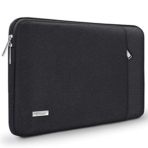TECOOL 14 Inch Laptop Sleeve Protective Case with Accessories Pocket for 2016-2019 MacBook Pro 15, 14-inch Huawei Lenovo Dell HP Acer ASUS Laptops Ultrabooks, Black