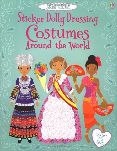 Sticker Dolly Dressing Costumes Around the World Cover Image