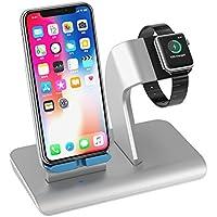 Apple Watch Ständer Halter Qi Wireless Ladegerät Ladestation Docking Station für iPhone X / iPhone 8/8 plus / Samsung Galaxy S8 alle Qi-Enabled Geräte Ständer Dock Halterung für Apple iWatch Series