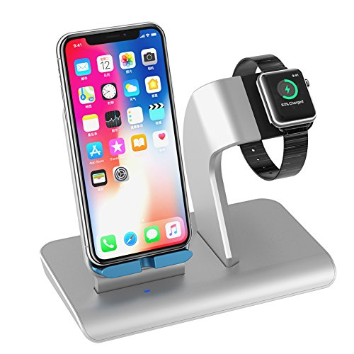 Apple Watch stand,iPhone Carga Dock Soporte Cargador Inalámbrico con Soporte...