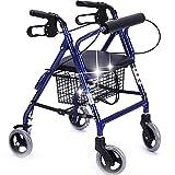 ßeRä Old Man Walker | Einkaufswagen | Trolley Aluminum Alloy Pulley Mit Seat Collapsible Walking Bracket, Größe: 64.5 * 53 (79-88) cm
