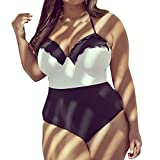 Oyeden Taglia Grossa Costumi da Bagno Interi Donna Trikini Costume da Mare Spiaggia Piscina Bohemian in Pizzo Bikini Swimsuit One Piece Coordinati Beachwear Bra Monokini