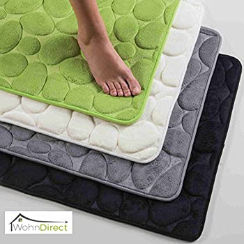 badteppich 50x80 cm limonen gr n badvorleger badematte 100 baumwolle bathmat green. Black Bedroom Furniture Sets. Home Design Ideas