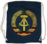 Urban Backwoods DDR Symbol Turnbeutel Sporttasche Ostzone Fahne Wappen Hammer Zirkel Ostalgie Logo Turnbeutel Sporttasche
