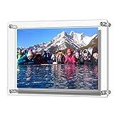 Cadres à photos muraux en acrylique Boxalls, Cadres à photos en acrylique suspendu, contient les plus grandes photos 12 x 8,5 pouces par Boxalls, épaisseur 3mm + 3mm (A4)