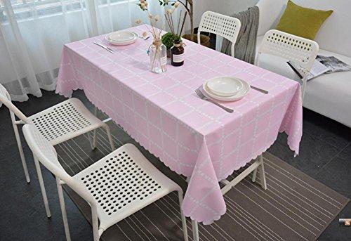 ZXYLe Nouveau ménage Nappe imperméable Treillis Table Tissu PVC Table Basse Maison Vie décoration Bureau Polyvalent Couvre Tissu Chiffon à poussière,B,130 * 180cm