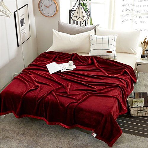 Single Double Padded Blanket für Stuhl Schlafsofa -Max Home ( Farbe : Rot , größe : 200*230cm 1.9KG )