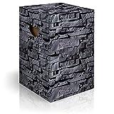 murando Papphocker Motiv Steine 45x30x30 cm faltbar Papier Hocker ergonomischer Karton Photohocker Falthocker f-C-0299-ap-a