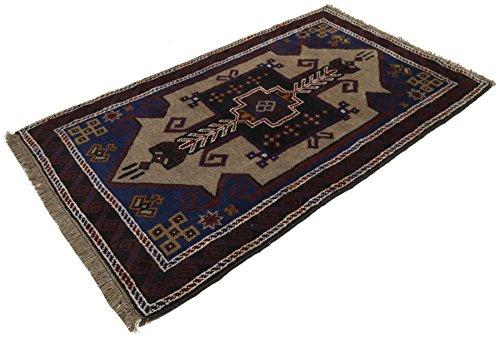 Galleria farah1970 - cm 146x86 autentico, originale tappeto rustico pure lana fatto a mano afgano